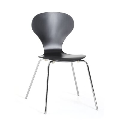 Kailen Dining Chair Color: Black