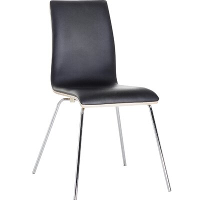 Hendrix Upholstered Dining Chair Color: Dark Brown