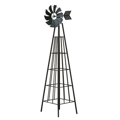 Windrad Obelisk   Garten > Dekoration > Windräder   Schwarz   Home Etc