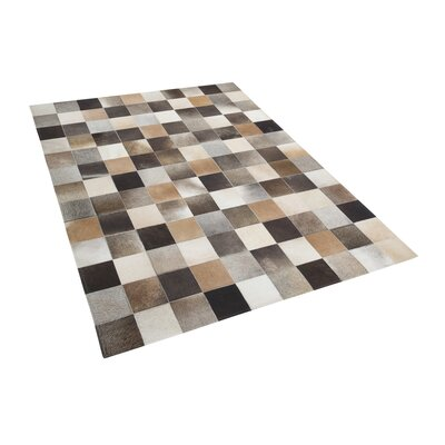 Felim Brown/Beige/Gray Area Rug Rug size: Ractangle 52 x 76