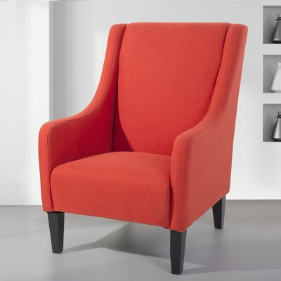 Colum Upholstered Armchair Upholstered: Red