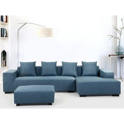 Cronin Corner Sofa Upholstery: Blue, Orientation: Left