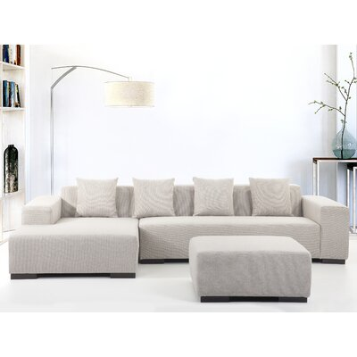 Cronin Corner Sofa Upholstery: Beige, Orientation: Right