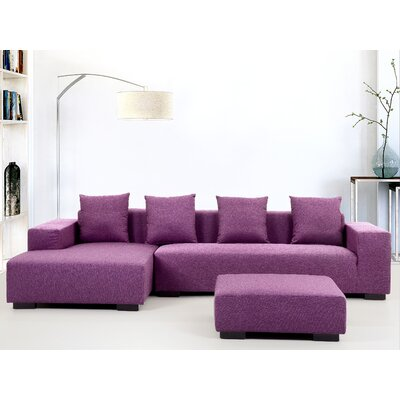 Cronin Corner Sofa Upholstery: Purple, Orientation: Right