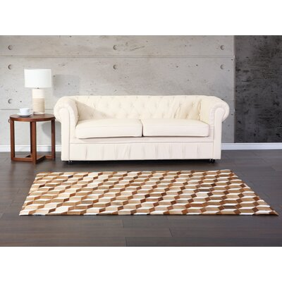 Finbar Brown/Beige Area Rug Rug Size: Ractangle 52 x 76
