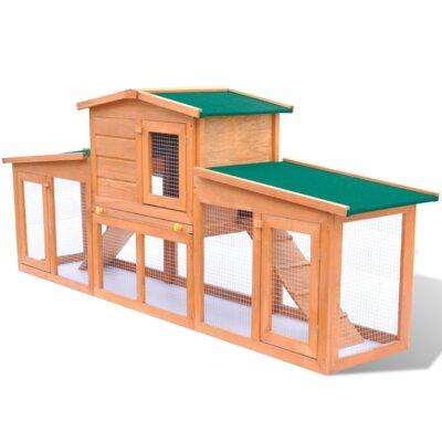 Kaninchenstall | Garten > Tiermöbel > Hasenställe-Kaninchenställe | Eisen - Holz - Pinienholz | Home Etc
