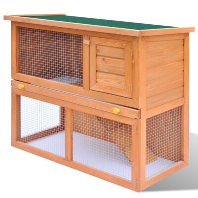 Kaninchenstall mit 1 Tür | Garten > Tiermöbel > Hasenställe-Kaninchenställe | Eisen - Holz - Pinienholz | Home Etc