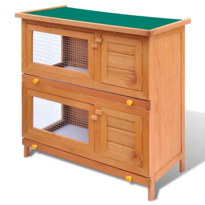 Kaninchenstall mit 4 Türen | Garten > Tiermöbel > Hasenställe-Kaninchenställe | Eisen - Holz | Home Etc