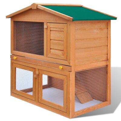 Kaninchenstall mit 3 Türen | Garten > Tiermöbel > Hasenställe-Kaninchenställe | Eisen - Holz | Home Etc