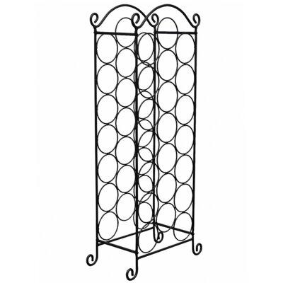 Weinregal für 21 Fl.   Küche und Esszimmer > Küchenregale > Weinregale   Black   Metall   Home Etc