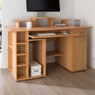 Computertisch San Diego mit Tastaturauszug | Büro > Bürotische > Computertische | Braun | Home Etc