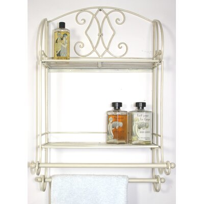 Chrome 3 Shelf Bathroom Corner Shelving Unit