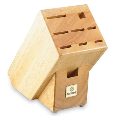 Solid Wood Block with 9 Slots