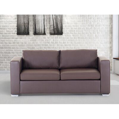 Jordon Leather Sofa Upholstery: Brown