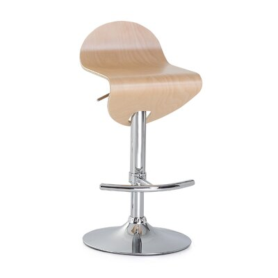Lisa Swivel Adjustable Bar Stool Color: Light Brown