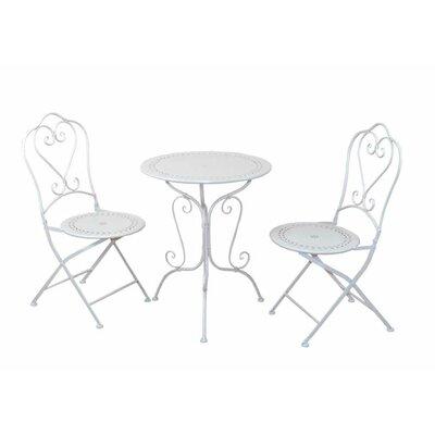 2-Sitzer Balkonset | Garten > Balkon > Balkon-Sets | White | Metall - Rattan | Home & Haus