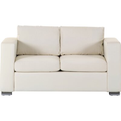Denmark Leather 2 Seater Sofa Upholstery: Beige