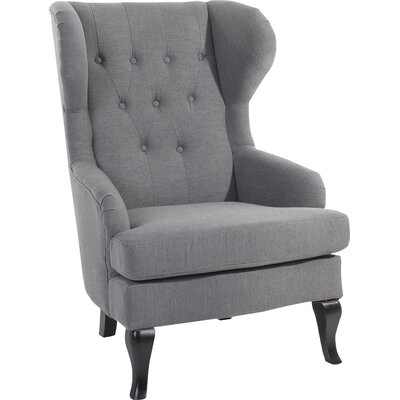 Aleshia Wingback Chair Upholstery: Gray