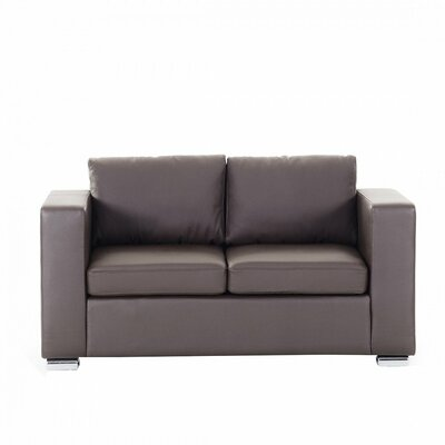Denmark Leather 2 Seater Sofa Upholstery: Brown