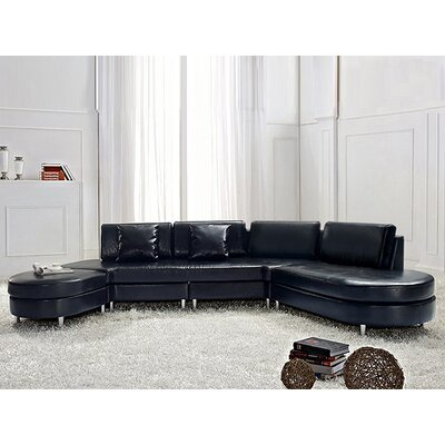 Fordoun Sofa Set Upholstery: Black