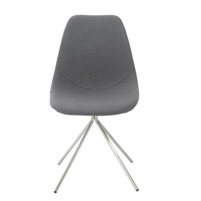 Loni Side Chair Upholstery: Grey