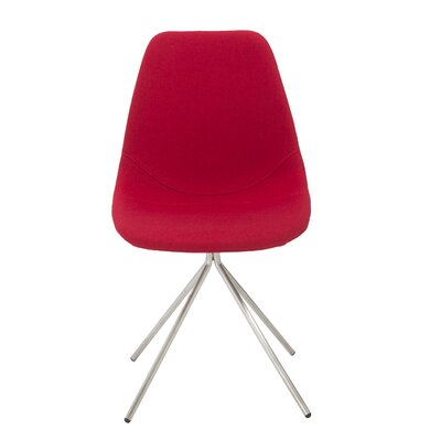 Loni Side Chair Upholstery: Red