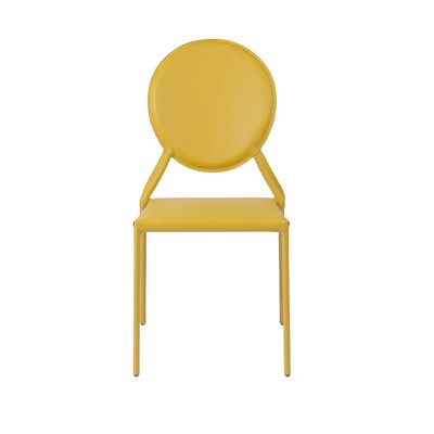 Isabella Side Chair Color: Yellow