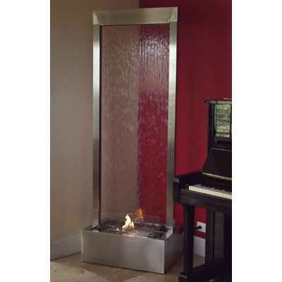 "Image of Nu-Flame Metal/Glass Gardenfall Fire Fountain Size: 72"" H x 24"" W x 15"" D"