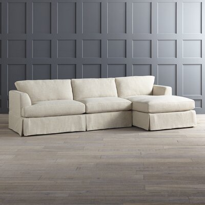 Warner Sectional Upholstery: Hermes Flannel, Orientation: Right Hand Facing
