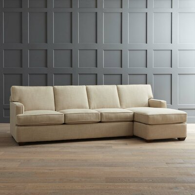 Johnnie Sectional Body Fabric: Messenger Tuxedo, Sectional Orientation: Right Hand Facing