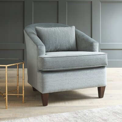 Evelyn Barrel Chair Fabric: Messenger Tuxedo