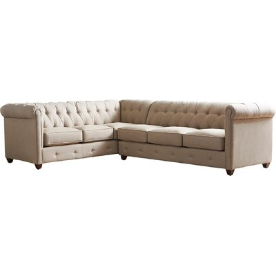 Keegan Sectional Upholstery: Zula Pumice, Orientation: Left Facing