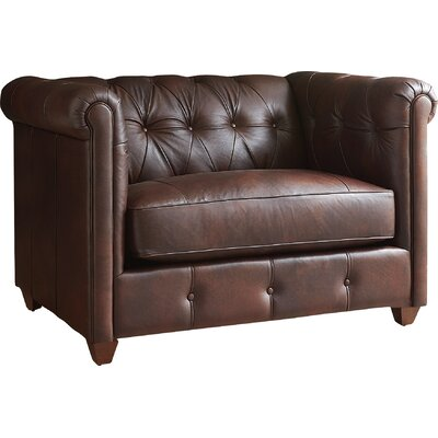 Keenan Leather Armchair  Upholstery: Cognac Leather