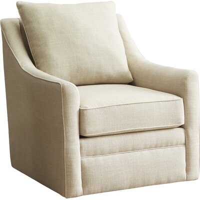 Quincy Swivel Armchair Body Fabric: Messenger Tuxedo