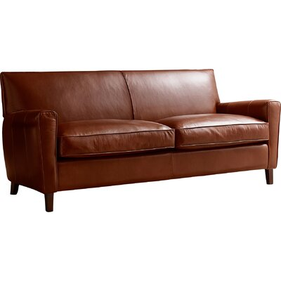 Foster Leather Sofa Leather: Cognac Leather