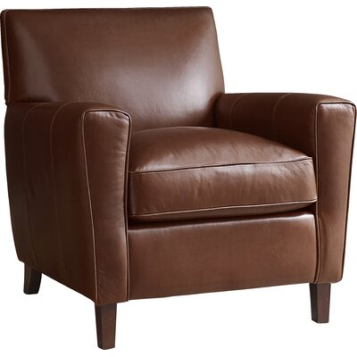 Club Chair And Ottoman Upholstery: Cognac Leather