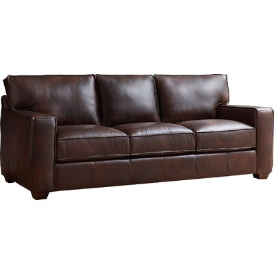 Dylan Leather Sofa Upholstery Color: Steamboat Charcoal
