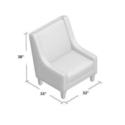Arthur Armchair Body Fabric: Hermes Seal