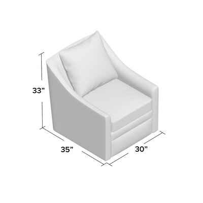 Quincy Swivel Armchair Body Fabric: Hermes Seal