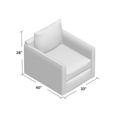 Alice Swivel Armchair Body Fabric: Empire Steel
