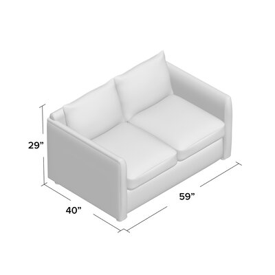 Alice Loveseat Body Fabric: Bayou Stone