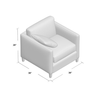 Victoria Armchair Body Fabric: Empire Steel