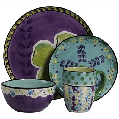 Lapel Round 4 Piece Place Setting, Service for 1 WNPR8174 42671749