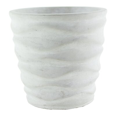 """Urban Wave Ceramic Pot Planter Color: Chalk, Size: 5.25"""" H x 3.75"""" W x 3.75"""" D 7600-06-437"""