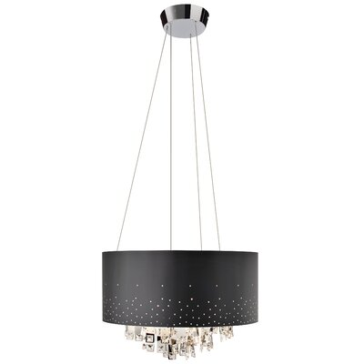Vallo 7-Light Drum Chandelier Shade Color: Black