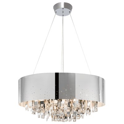 Vallo 12-Light Drum Chandelier Shade Color: Chrome