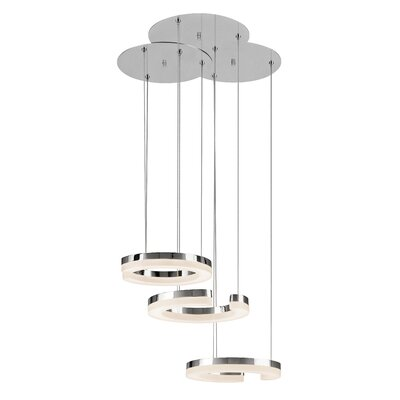 3-Light LED Cascade Pendant