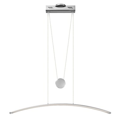 Kamari  1-Light Kitchen Island Pendant Finish: Silver