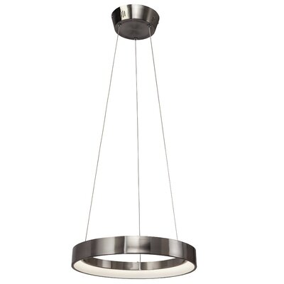 Rhianna  1-Light Geometric Pendant Finish: Brushed Nickel, Size: 2.25 H x 17.75 W x 17.75 D