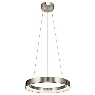 Fornello? 1-Light Geometric Pendant Size: 2.75 H x 23.5 W x 23.5 D, Finish: Brushed Nickel